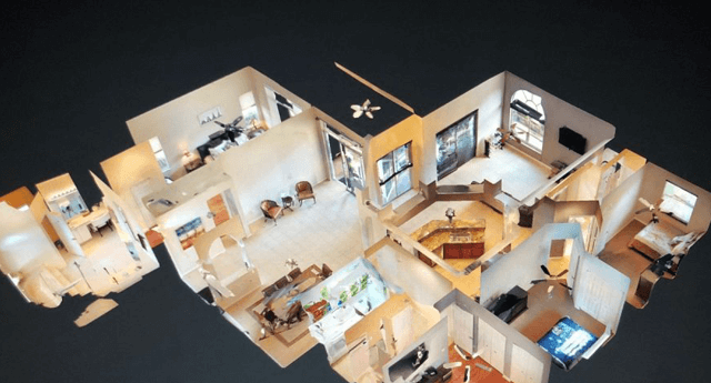 top-down view of a home virtual tour